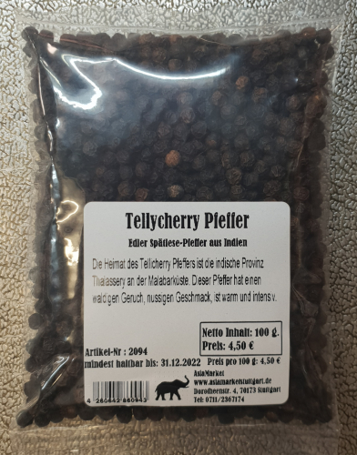 Tellycherry Pfeffer, 100g, Indien