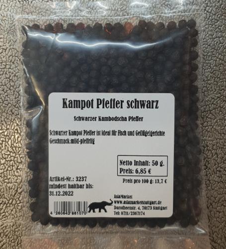 Kampot Pfeffer schwarz, 50g, Kambodscha