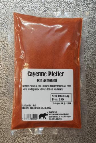 Cayenne Pfeffer gemahlen, 50g und 150g, Indien