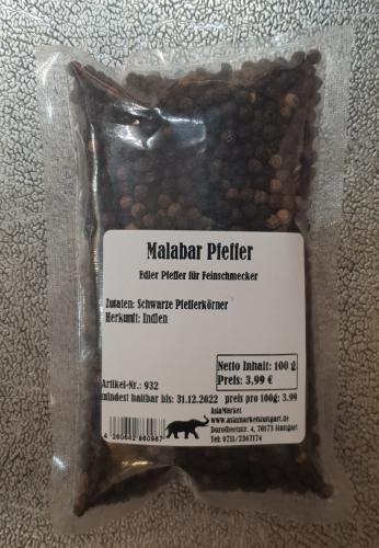 Malabar Pfeffer, 100g, Indien