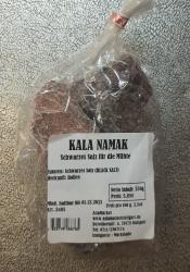Kala Namak schwarzes Salz Brocken, 250g, Indien