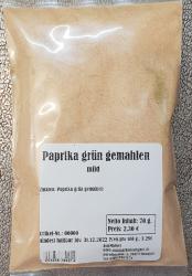 Paprika grün gemahlen, 70g, Indien