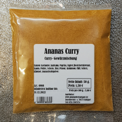 Ananas Curry, 50g, Indien