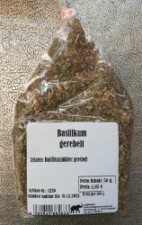 Basilikum gerebelt, 50g, Deutschland