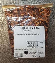 Hagebutten mit Kern, 100g, Deutschland