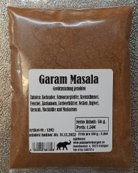 Garam Masala gemahlen, 50g, Indien