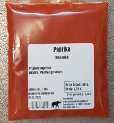 Paprika edelsüß, 50g, Ungarn