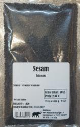 Sesam schwarz, 70g, Indien