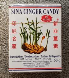 Ingwer Bonbons, 56g, Indonesien, Sina